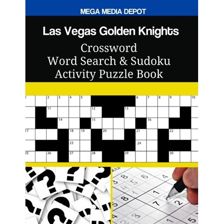 Las Vegas Golden Knights Crossword Word Search & Sudoku Activity Puzzle - Body Painting Las Vegas Halloween