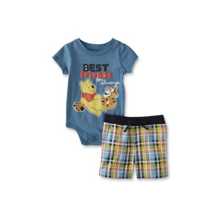 3bdd6ec7d Disney - Disney Infant Boys Pooh & Tigger Best Friends Baby Outfit Shorts &  Bodysuit - Walmart.com