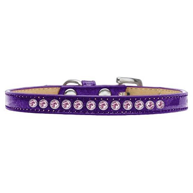 Light Pink Crystal Size 16 Purple Puppy Ice Cream Collar - image 1 of 1