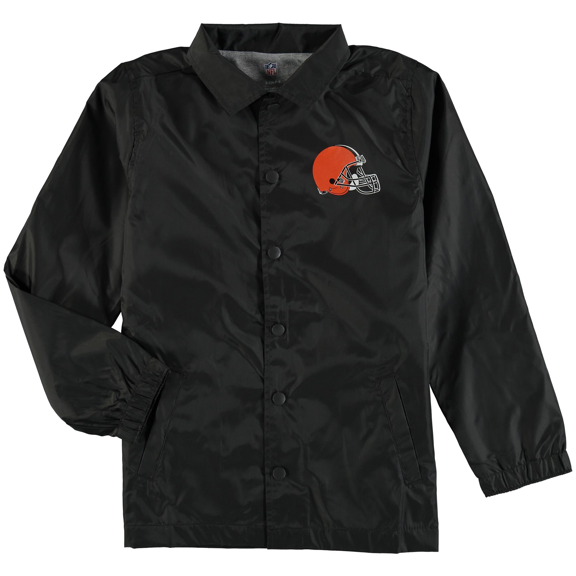 Cleveland Browns Youth Bravo Coach Jacket - Black