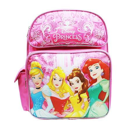 Medium Backpack - Disney Princess - Cinderella Aurora Bella & Ariel New A08431 - image 2 de 2
