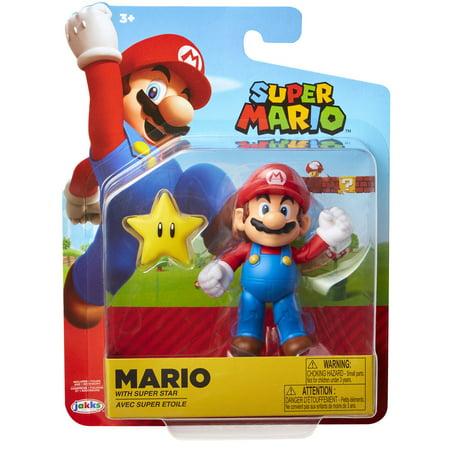 Super Mario Mario Action Figure [with Super Star]