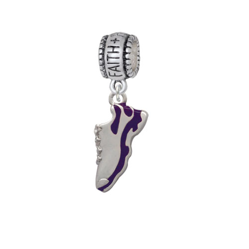 Purple Running Shoe - Faith Hope Love Charm Bead