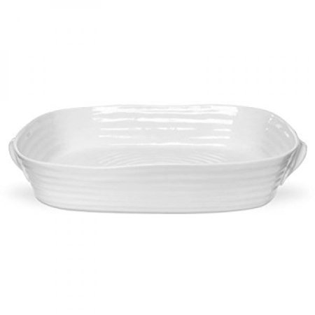 Portmeirion White Dish (Portmeirion Sophie Conran White Large Handled Rectangular Roasting Dish )