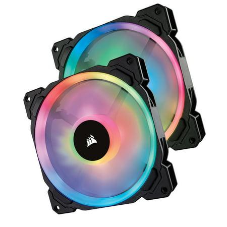 Corsair LL Series LL140 RGB 140mm Dual Light Loop RGB LED PWM Fan 2 Fan Pack (Rgb Monitor Loop)