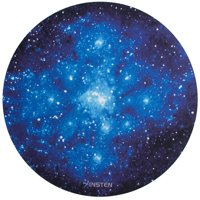 "Insten Galaxy Mouse Mat Pad For Gaming Home Office Galactic Space Design Round Anti-Slip Backing Silky Smooth Surface 2mm Ultra Thick Diameter:8.46"" - Blue Starry Night"