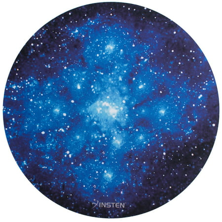 Insten Galaxy Mouse Pad Mat for Computer Desk Laptop Galactic Space Design Round Anti-Slip Backing and Silky Smooth Surface 2mm Ultra Thick Diameter: 8.46