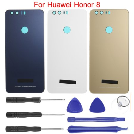 For Huawei Honor 8 Battery Back Door Cover Glass Rear Panel Replacement