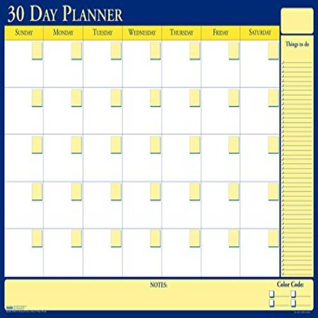 Laminated Reversible Planner (House of Doolittle Plan-A-Board 30/60 Day Non-Dated Laminated Planner Reversible 48 x 32 Inch (HOD6311))