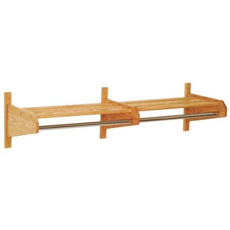 - 48-Inch Double Wooden Wall Coat & Hat Rack
