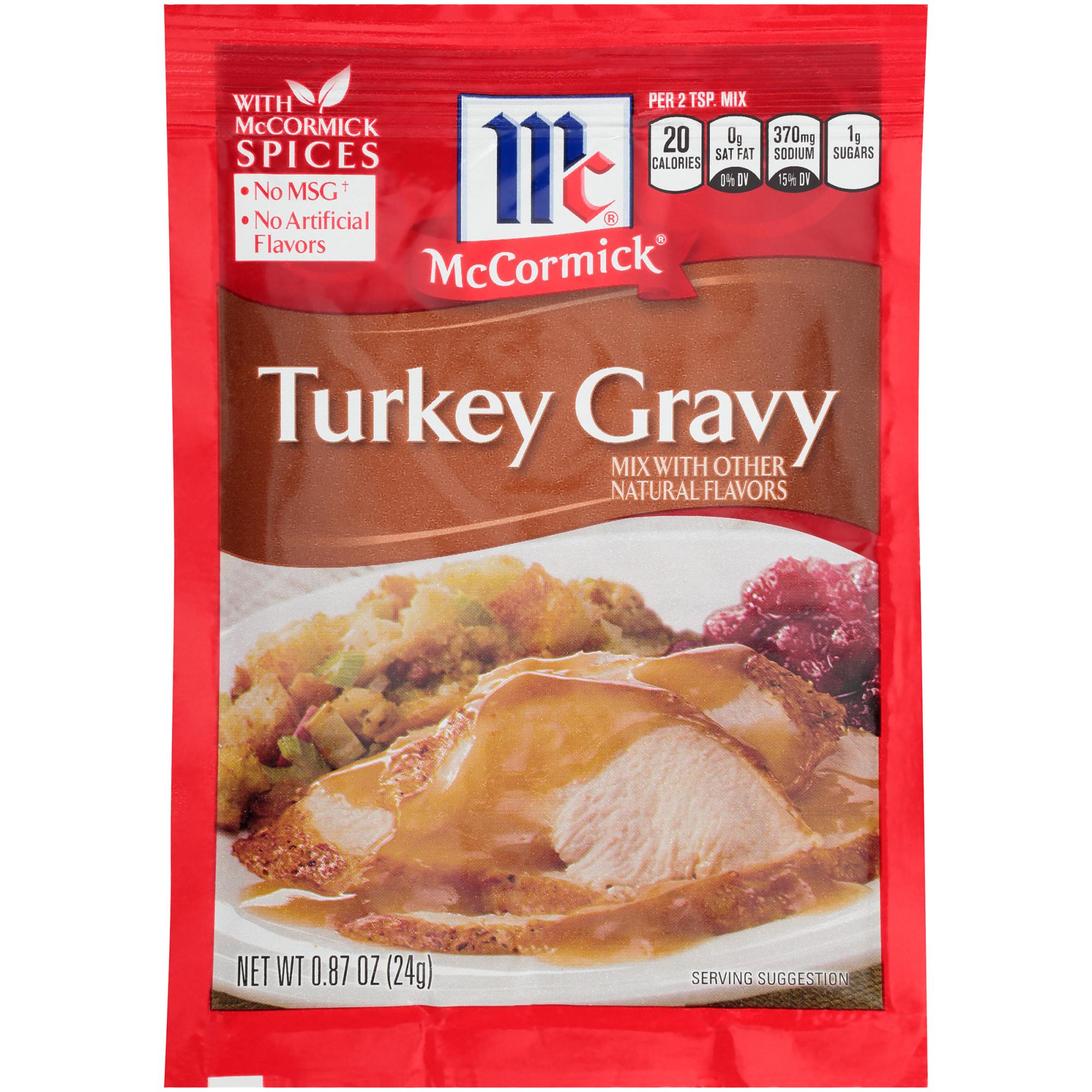 (4 Pack) McCormick Turkey Gravy Mix, 0.87 oz