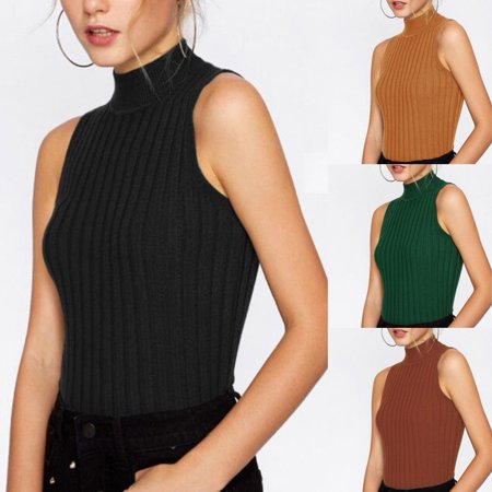 Bare Midriff Top - Sexy Womens Summer Sleeveless Tank Crop Tops Midriff Casual Vest Shirt Blouse