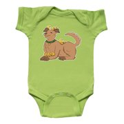Cute Brown Dog with Easter Chicks Infant Creeper