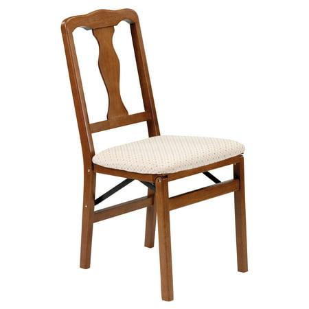 Queen Anne Hardwood folding chair - Fruitwood