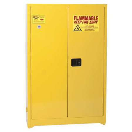 Flammable Safety Cabinet, 45 gal., Yellow EAGLE 4510