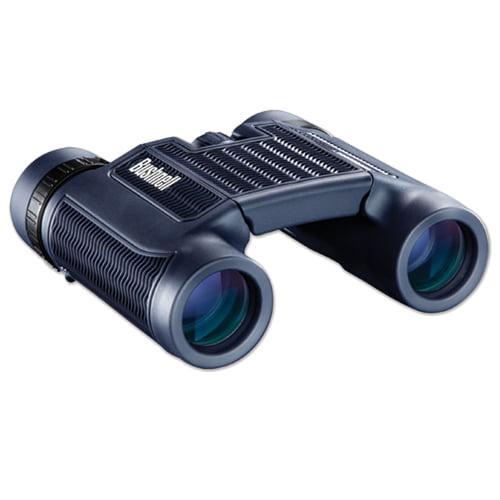 Bushnell H2O 10x25 Compact Foldable Binocular in Black + Fenix E01 Compact Keychain LED Flashlight + Accessory Kit by Bushnell