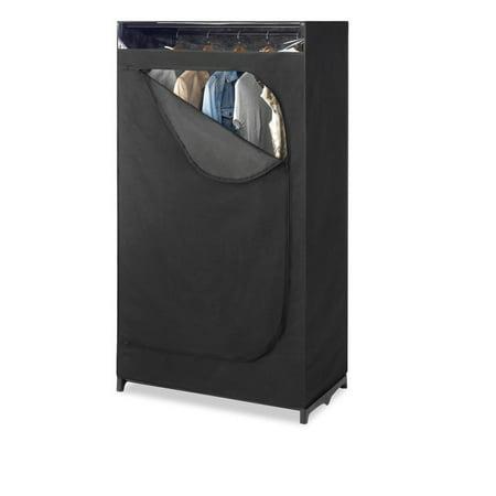 Whitmor Black Portable Clothes Closet With See Through