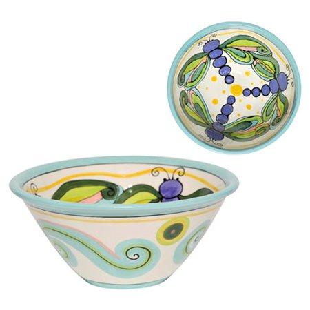 Thompson And Elm Dana Wittmann Wings Dragonfly Handpainted Ceramic Serving Bowl