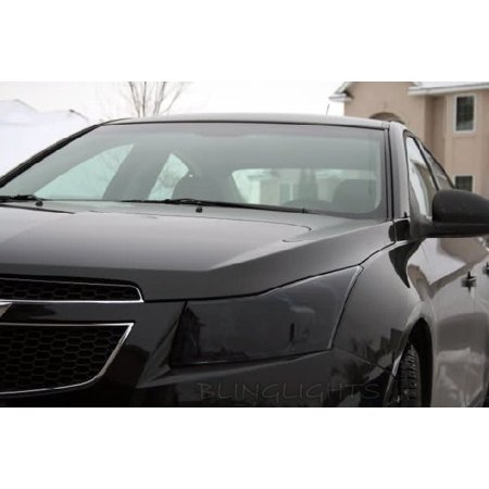 Chevy Cruze Smoked Head Light Lamp Overlay Kit Tinted Film Protection