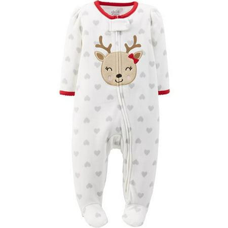 db7ceb147 Child of Mine by Carter's - Newborn Baby Girl Zip Close Christmas ...