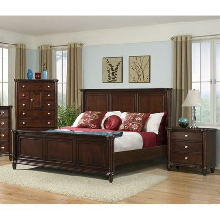 Picket House Furnishings Gavin 3 Piece Queen Bedroom Set in Cherry
