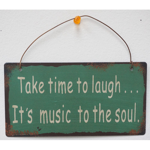Attraction Design Home Take Time to Laugh Wisdom Sign Wall D cor