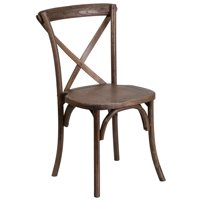 Flash Furniture HERCULES Series Stackable Early American Wood Cross Back Chair