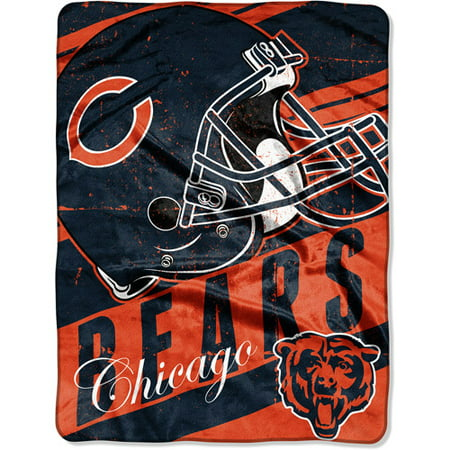 "NFL Micro Raschel Deep Slant 50"" x 60"" Throw, Chicago Bears"