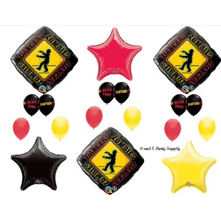 Zombie Birthday Party Supplies (1 X Zombies The Walking Dead Zone Birthday Party Balloons Decorations Supplies)