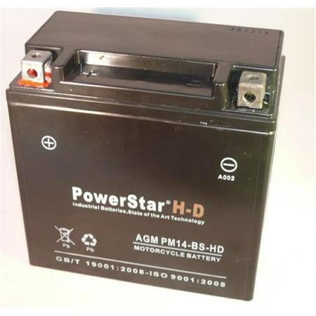 PowerStar PM14-BS-HD-168 Ytx14-Bs Battery