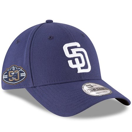 finest selection 3537e d1804 San Diego Padres New Era 50th Anniversary The League 9FORTY Adjustable Hat  - Navy - OSFA - Walmart.com