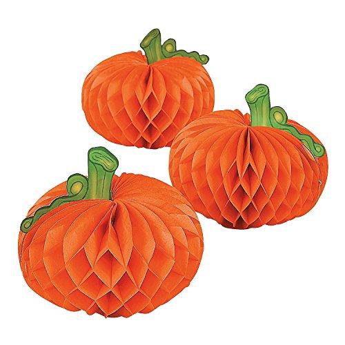 Paper Pumpkin Decorations - 6 pcs - Halloween/Thanksgiving Table Centerpieces