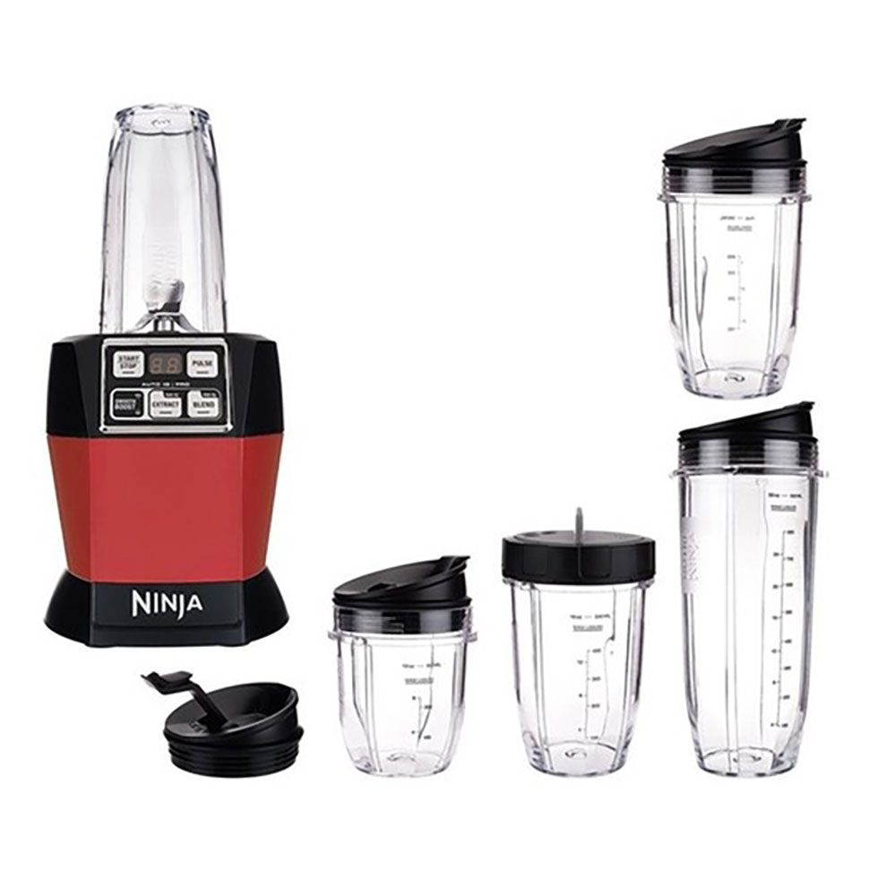 Nutri Ninja Auto iQ Pro Complete Blender w/ Cups, Red (Manufacturer Refurbished)