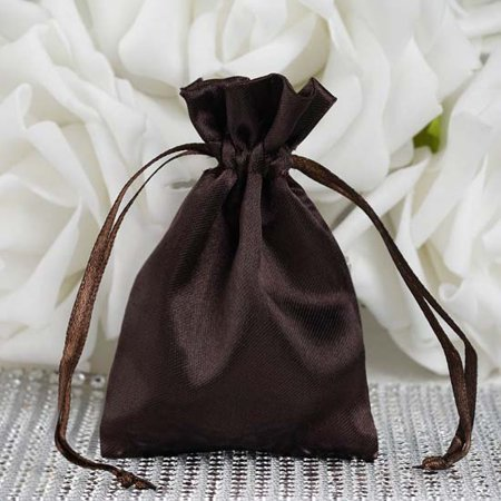 Efavormart 60PCS  Satin Gift Bag Drawstring Pouch for Wedding Party Favor Jewelry Candy Solid Satin Bags - 3