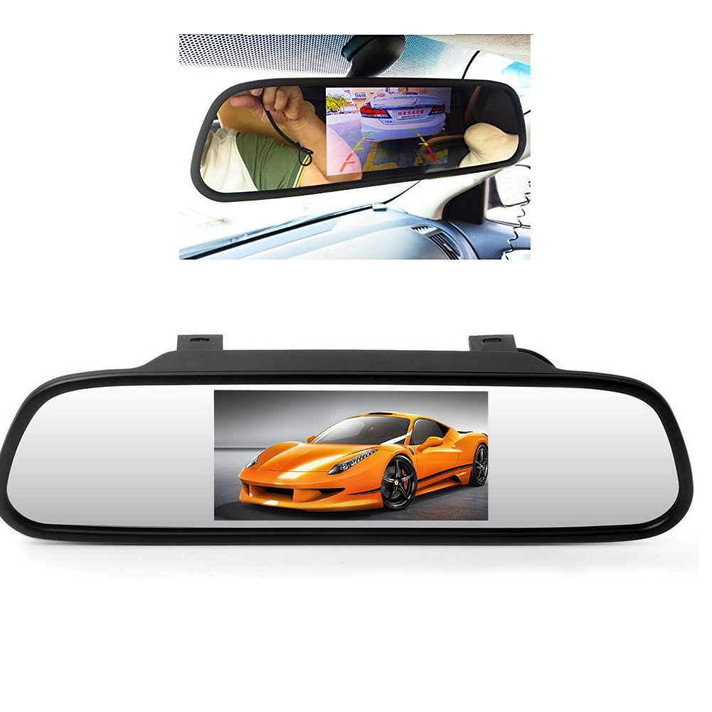 5 inch TFT Color Mirror Car Rearview Monitor LCD Display Cheap LED HD Touch Screen Monitor 2AV input for DVD/reversing Camera