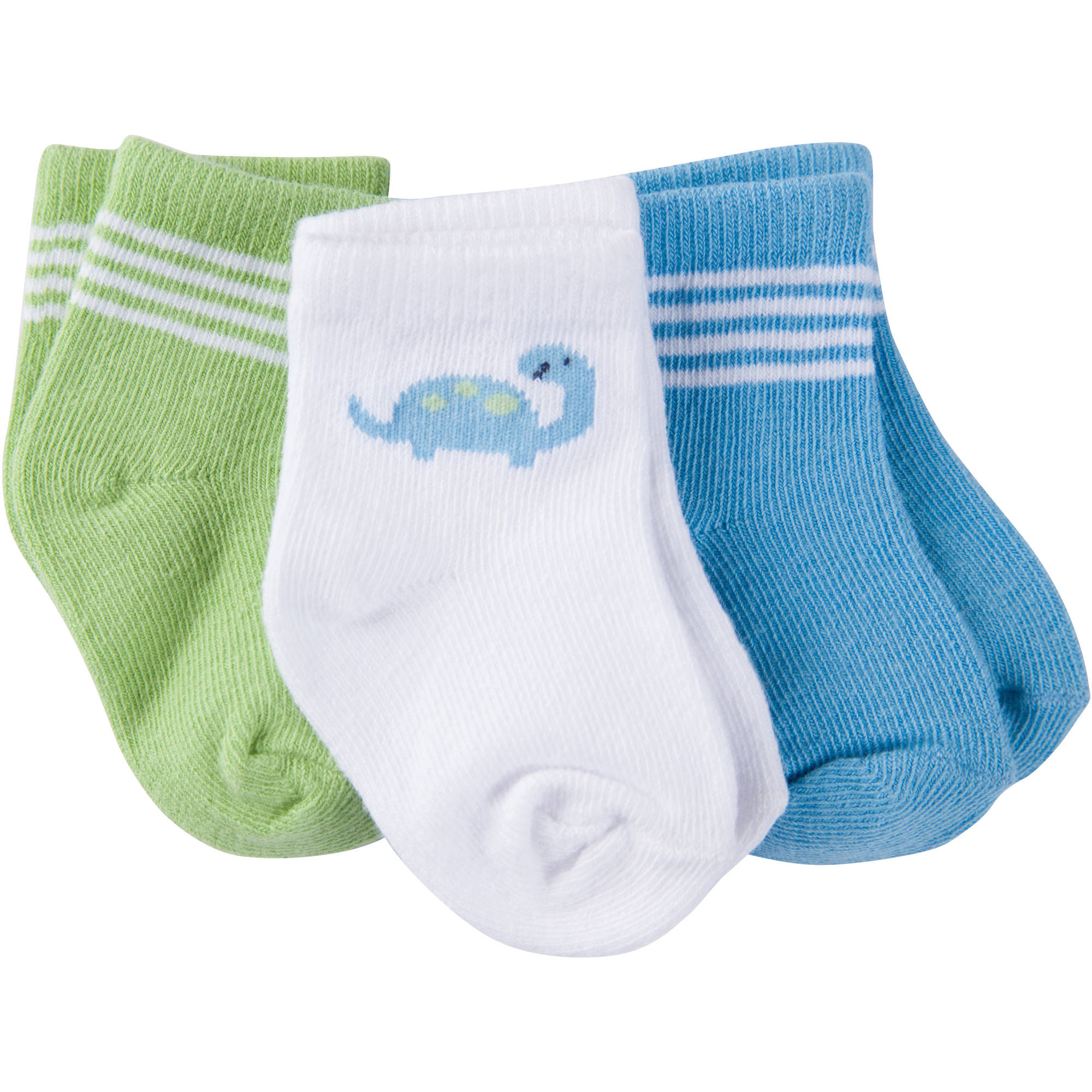 Gerber Newborn Baby Boy Ankle Bootie Socks, 3-Pack