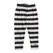 KidCuteTure Little Girls White Charcoal Stripe Cotton Spandex Leggings 2-6