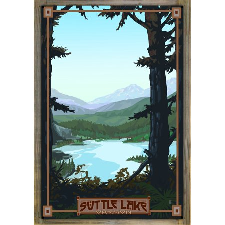 """Suttle Lake Oregon Metal Print on Reclaimed Barn Wood by Mike Rangner (24"""" x 36"""")"""
