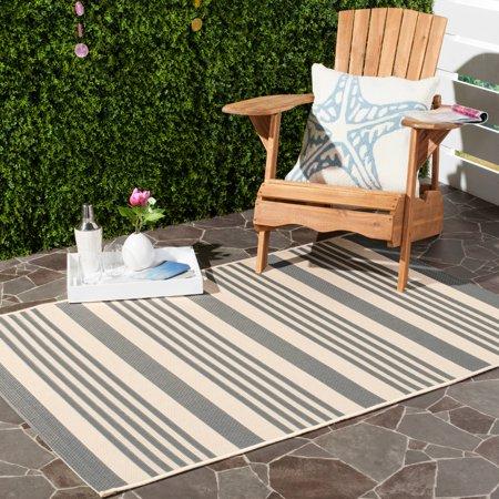 - Safavieh Courtyard Caroline Striped Indoor/Outdoor Area Rug or Runner