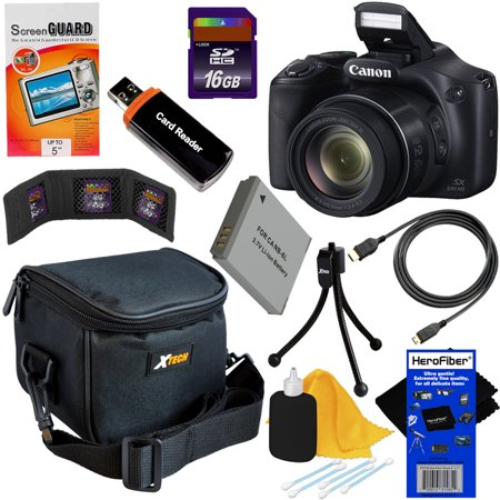 Pda Accessory Bundle Kit (Canon Powershot SX530 HS 16.0 MP Digital Camera with 50x Optical Zoom, Built-in Wi-Fi and 1080p Full HD Video + NB-6L Battery + 9pc Bundle 16GB Accessory Kit w/ HeroFiber® Ultra Gentle Cleaning Cloth )