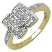 Malaika Silver 1/3ct TDW Diamond Ring (I-J, I3)