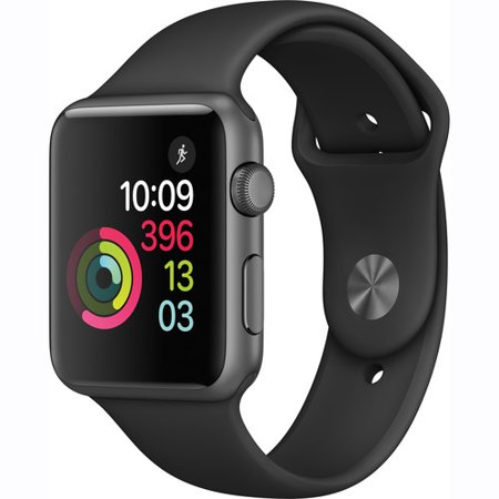 Refurbished Apple Watch Gen 2 Series 1 42Mm Space Gray Aluminum   Black Sport Band Mp032ll A