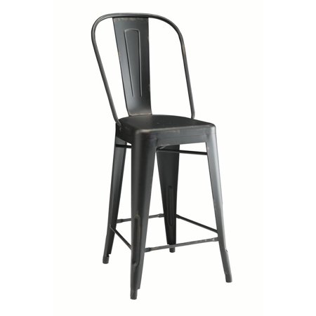 - Coaster Company Lahner Traditional Counter Chair Set of Two, Black