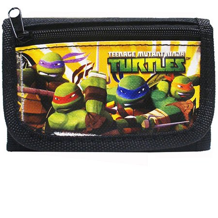 Turtle Wallet (Teenage Mutant Ninja Turtles Authentic Licensed Black Trifold Wallet)