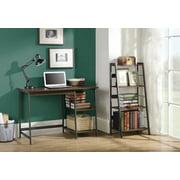Homestar 2-PC Laptop Desk+4-Shelf Bookcase-Distressed Mocha