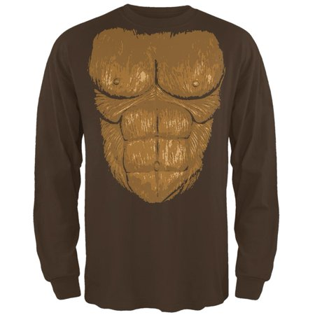 Halloween Sasquatch Bigfoot Costume Mens Long Sleeve T Shirt (Cheap Bigfoot Costume)