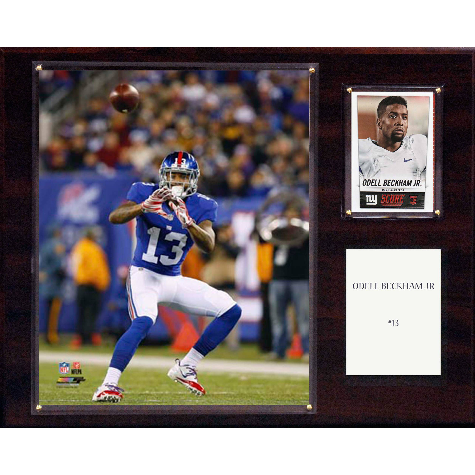 C&I Collectables NFL 12x15 Odell Beckham Jr. New York Giants Player Plaque