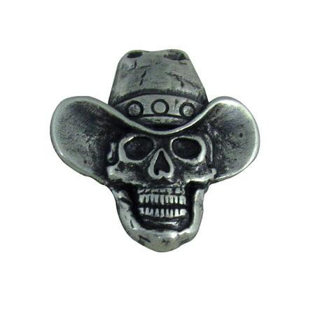 Cowboy Skull Motorcycle Biker Concho Leathercraft (Biker Concho)