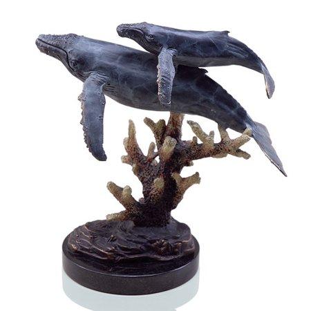 Spi Home Humpback Whales Figurine