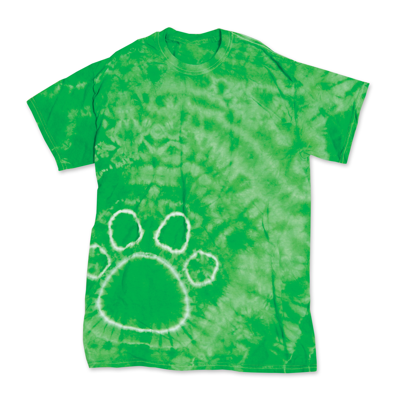 pawprint paw print unisex tie dye t shirt